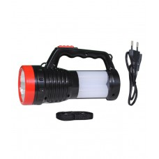 Deals, Discounts & Offers on Home Decor & Festive Needs - Rock Light Black Virgin Plastic 4W Solar LED Rechargeable 2 In1 Torch & Emergency Light