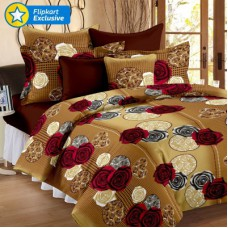 Deals, Discounts & Offers on Home Decor & Festive Needs - Story @ Home Cotton Floral Double Bedsheet