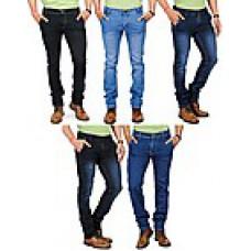 Deals, Discounts & Offers on Women Clothing - Eprilla Combo Of 5 Multicolour Men Jeans