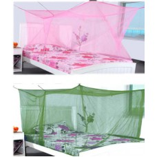 Deals, Discounts & Offers on Accessories - Elegant Double Bed Pinkgreen Combo With Cotton Brodar Mosquito Net
