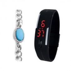Deals, Discounts & Offers on Men - Mango People LED Digital Watch with Salman Khan Bracelet.