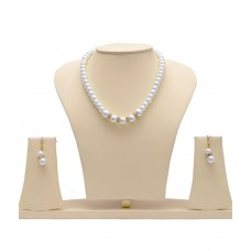 Deals, Discounts & Offers on Earings and Necklace - Manukunj Pearl Single Line Necklace Set