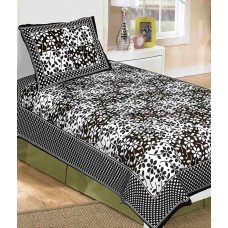Deals, Discounts & Offers on Home Appliances - Metro Living Multicoour Cotton Single Bed Sheet With One Pillow Cover