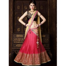 Deals, Discounts & Offers on Women Clothing - Touch Trends Pink Embellished Lehenga