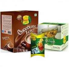 Deals, Discounts & Offers on Health & Personal Care - Apsara Combo Chocolate Tea 250gm, Green Tea 100gm & Lemon Ice Tea