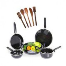 Deals, Discounts & Offers on Home & Kitchen - 5 Pcs Non-Stick Induction Safe Cookware 5 Pcs Skimmer Set