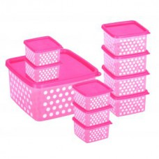 Deals, Discounts & Offers on Kitchen Containers - Joyo Fresia Container 10 Pcs Set