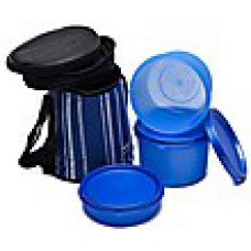 Deals, Discounts & Offers on Kitchen Containers - Nayasa Blue Vital Lunch Box Strip