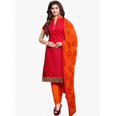 Deals, Discounts & Offers on Women Clothing - Red Printed Dress Material offer