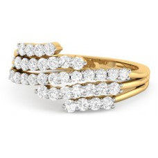 Deals, Discounts & Offers on Women - WearYourShine by PCJ The Widad Gold Diamond 18 K Ring