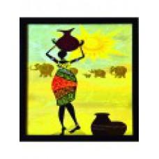 Deals, Discounts & Offers on Home Decor & Festive Needs - Tribal Lady Satin Matt Texture Framed Uv Art Print