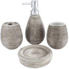 Deals, Discounts & Offers on Home & Kitchen - Chrome Brown Texture Bone China Bathroom Set