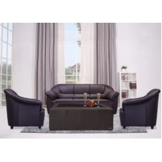 Deals, Discounts & Offers on Furniture - Durian BERRY/55001/C Leatherette 3 + 1 + 1 Sofa Set