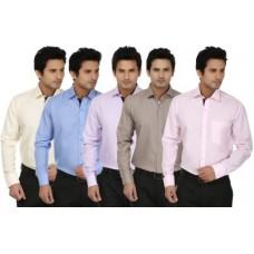 Deals, Discounts & Offers on Men Clothing - Fizzaro Men's Solid Formal Shirt
