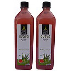 Deals, Discounts & Offers on Health & Personal Care - Yoga Pulp Guava Aloevera Pulp & Juice 1 Ltr - Pack Of 2