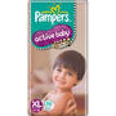Deals, Discounts & Offers on Baby Care - Pampers Active Baby Regular Diaper XL - 56 Pcs