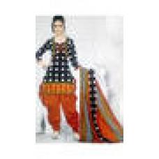 Deals, Discounts & Offers on Women Clothing - lakshmi Black Cotton Dress Material