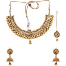 Deals, Discounts & Offers on Women - Adwitiya Collection Copper Jewel Set