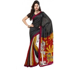 Deals, Discounts & Offers on Women Clothing - Fabdeal Printed Fashion Silk Sari