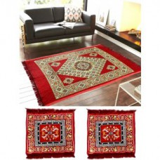 Deals, Discounts & Offers on Home Decor & Festive Needs - Home Castle Famous Quilted Carpet With 2 Asan Mats Free