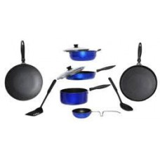 Deals, Discounts & Offers on Home Appliances - Apex 10 Pcs Blue Aluminum Friendly Cookware Set