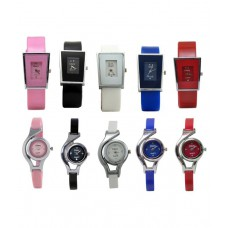 Deals, Discounts & Offers on Accessories - Legenddeal Combo Of 10 Multicolour Analog Watch