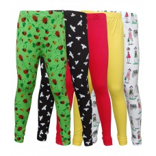 Deals, Discounts & Offers on Women Clothing - Little Star Combo Of 5 Leggings For Girls
