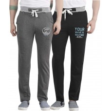 Deals, Discounts & Offers on Men Clothing - Maniac Multi Colour Cotton Trackpant - Pack Of 2