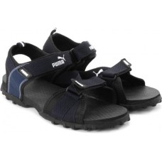 Deals, Discounts & Offers on Foot Wear - Puma Rio Men Black, Blue Sports Sandals