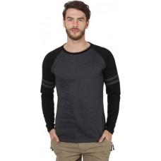 Deals, Discounts & Offers on Men Clothing - SayItLoud Solid Men's Round Neck Black, Black T-Shirt