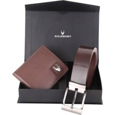 Deals, Discounts & Offers on Accessories - WildHorn Men Casual, Formal Brown Genuine Leather Wallet