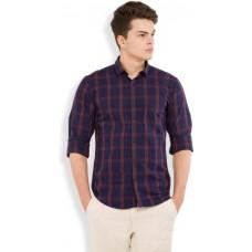 Deals, Discounts & Offers on Men Clothing - HIGHLANDER Men's Checkered Casual Dark Blue, Red Shirt