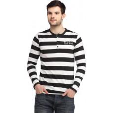 Deals, Discounts & Offers on Men Clothing - Rockhard Striped Men's Henley Multicolor T-Shirt