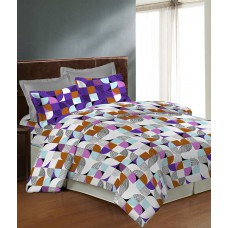Deals, Discounts & Offers on Home Decor & Festive Needs - Bombay Dyeing Caelina Purple Double Bedsheet