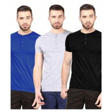 Deals, Discounts & Offers on Men Clothing - Gallop Multi Henley T Shirt Pack of 3