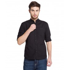 Deals, Discounts & Offers on Men Clothing - Locomotive Black Slim Fit Shirt