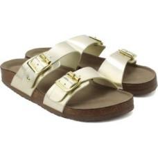 Deals, Discounts & Offers on Foot Wear - Madden Girl Brando Women Gold Flats
