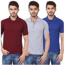 Deals, Discounts & Offers on Men Clothing - Stylish Combo Of 3 Polo Neck T-Shirts