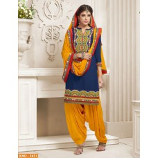 Deals, Discounts & Offers on Women Clothing - Patiala Indian Desinger cotton dress material