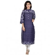 Deals, Discounts & Offers on Women Clothing - Nextar Blue Cotton Kurti