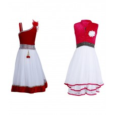 Deals, Discounts & Offers on Baby & Kids - Crazeis Multicolour Frock - Combo of 2