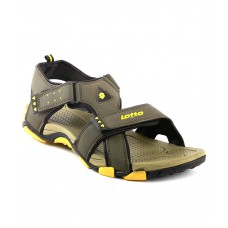 Deals, Discounts & Offers on Foot Wear - Lotto Musketeers Olive Yellow Men Floater Sandals