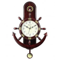 Deals, Discounts & Offers on Home Decor & Festive Needs - Plaza Quartz Motion-Anchor And Steering Design Pendulum Wall Clock