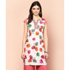 Deals, Discounts & Offers on Women Clothing - Flat 73% off on Antonia Leaf Print Kurti