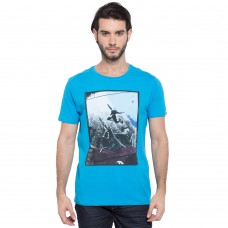 Deals, Discounts & Offers on Men Clothing - Printed Round Neck T-Shirt