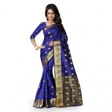 Deals, Discounts & Offers on Women Clothing - Shree Sanskruti Self Designer Cotton Sari With Golden Border