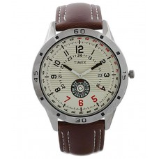 Deals, Discounts & Offers on Men - Flat 28% off on Timex  Brown Leather Analog Watch