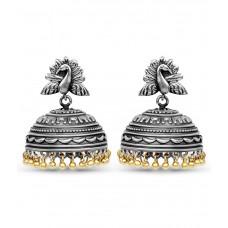 Deals, Discounts & Offers on Women - Johareez Silver Brass Jhumki Earrings