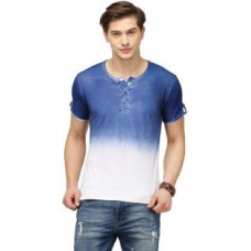 Deals, Discounts & Offers on Men Clothing - Campus Sutra Solid Henley Dark Blue T-Shirt