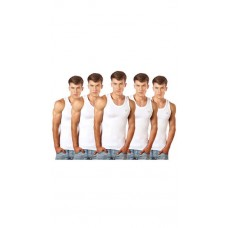 Deals, Discounts & Offers on Men Clothing - Lux Cozi White Cotton Pack Of 5 Vests